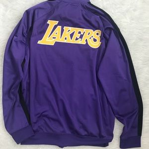 LA LAKERS Purple/Gold Classic Zip Up Track Jacket